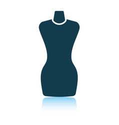 Tailor mannequin icon vector