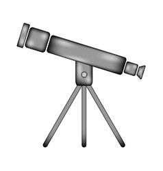 telescope sign icon vector image