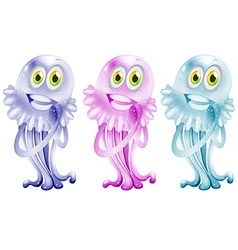 Three colorful jellies vector image