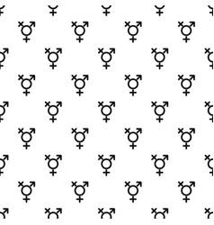 Transgender sign pattern vector