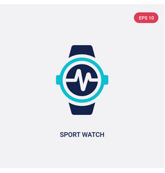 Two color sport watch icon from gym and fitness vector