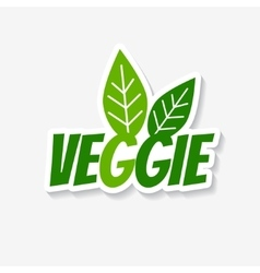 veggie sticker vector image