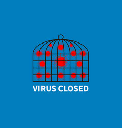 Viral cells closed in cage to prevent circulation vector