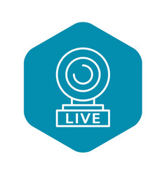 Web cam live icon outline style vector