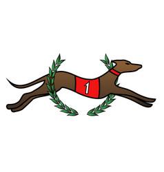 winner dog vector image