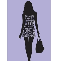 Woman in dress from quotes vector