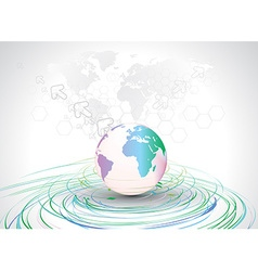 world map backgrond vector image vector image