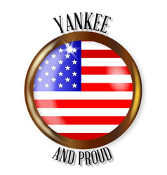 Yankee proud flag button vector