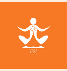 Yoga icon vector