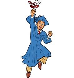Young Man Graduation vector