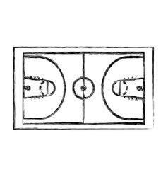 Basketball court isolated icon vector