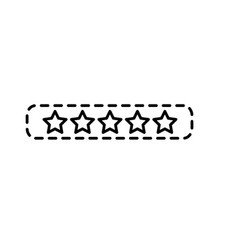 dotted shape rating stars bar to choose the vector image