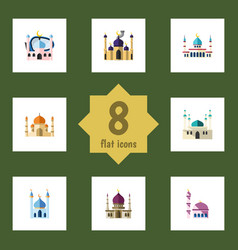 flat icon minaret set of architecture islam vector image vector image