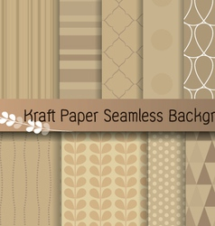 kraft paper seamless background vector image vector image
