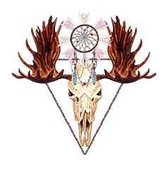 Moose skull and catcher vector image