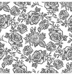 pattern grey rose branch vector image