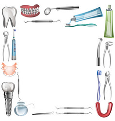 poster background template for dental vector image