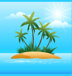 small tropical island in the ocean vector image