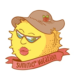 sun girl character vector image vector image