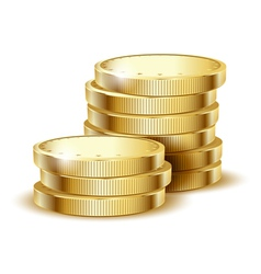 coins gold vector image