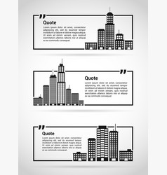 set of quotes templates vector image vector image