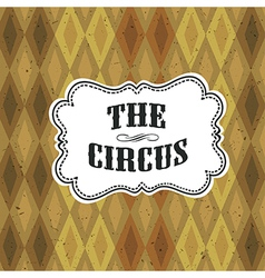 circus diamon pattern vector image vector image