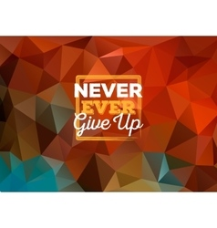 Colorful triangular background with frame and vector image vector image