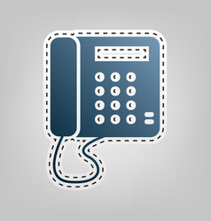 communication or phone sign blue icon vector image