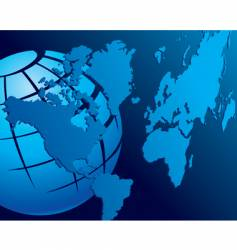 map globe vector image vector image