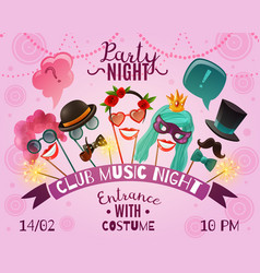 night party advertising poster vector image