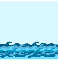 waves border blue vector image