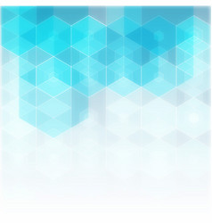 abstract science background hexagon vector image vector image