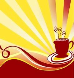 Coffee background logo vector image vector image