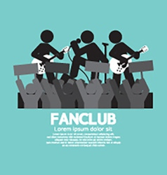 Fan Club The Big Fan Of The Band vector image vector image