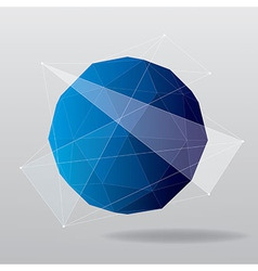 globe modern geometrical background vector image vector image