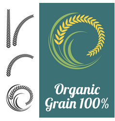 rice sign vector image