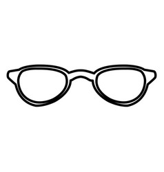 sunglasses fashion lens vector image vector image