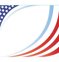 united states flag frame image vector image vector image