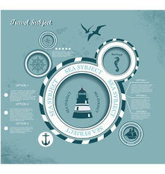 voyage theme presentation template vector image