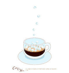 A Cup of Coffee con hieto with Ice Cream vector