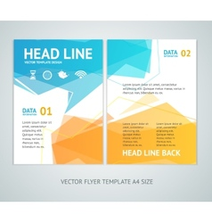 abstract geometric bubble speech brochure vector image