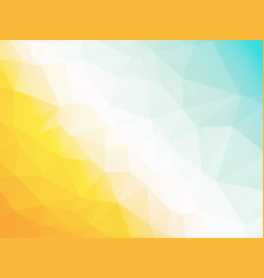 abstract geometric triangle yellow blue hot vector image