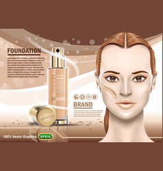 Advertising of moisturizing cosmetic and nice vector