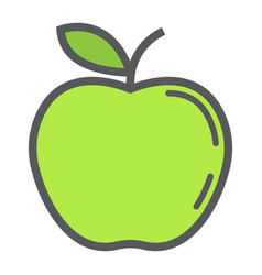 apple line icon fruit and diet graphics vector image