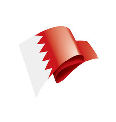 bahrain flag on a white vector image