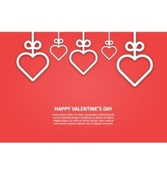 banner valentines day vector image vector image