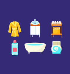 bath equipment and accessories set bathroom vector image