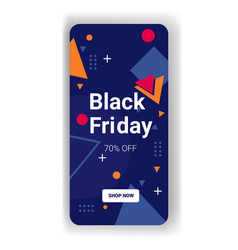 Big sale template black friday banner online vector