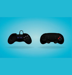 black gamepad video game controller vector image