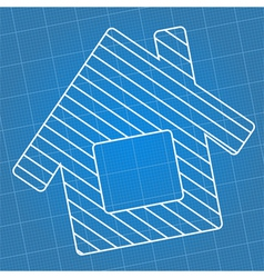 Blueprint house vector